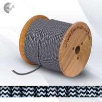 0527560 - Cablu textil impletit alb-negru 2x0.75mm2