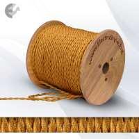 0527503T - Cablu textil rasucit auriu 2x0.75mm2